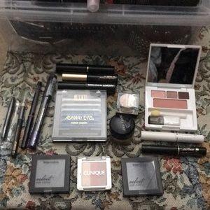 Variety: mascara, liner, eye shadow